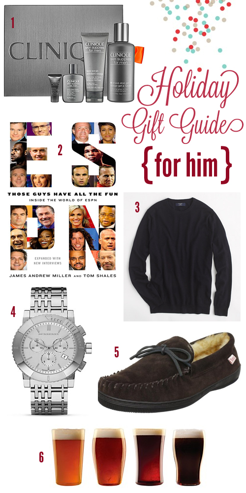 Holiday gift guide for him sugarsocial for Best christmas gifts for boyfriend 2012